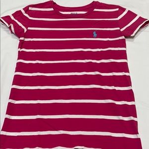 POLO hot pink stripe shirt